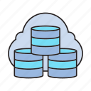 cloud, database, hosting, server