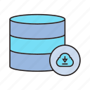 database, download, server icon