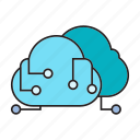 cloud computing, cyber, cyberspace, webserver icon