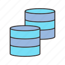 database, network, server icon