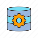cog, database, gear, setting icon