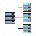 backup, cyber, cyberspace, ethernet, mainframe, router, webserver icon