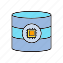 chip, database, microchip, processor, server icon