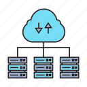 backup, cloud, cyber, ethernet, mainframe, router, webserver icon