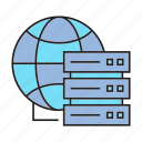 communication, device, globe, mainframe, router icon