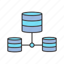 data center, database, server, share icon