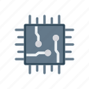 chip, cpu, electronic, processor icon