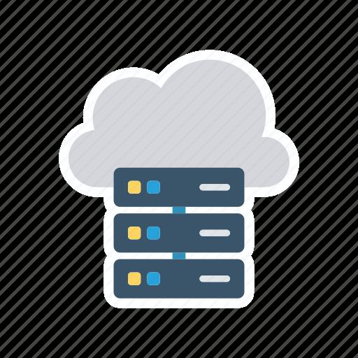 cloud, database, datacenter, storage icon