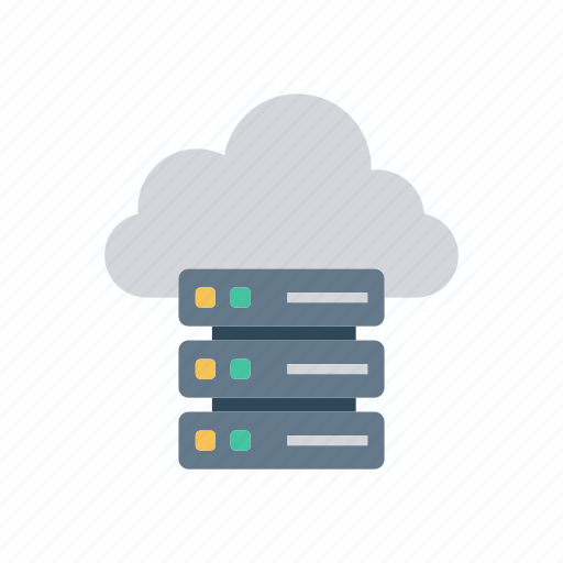 cloud, database, datacenter, server icon