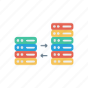 connection, server, storage, transfer icon