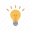 bright, creativity, idea, lamp icon