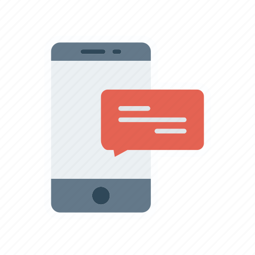 message, mobile, phone, text icon