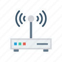 device, modem, router, wireless icon