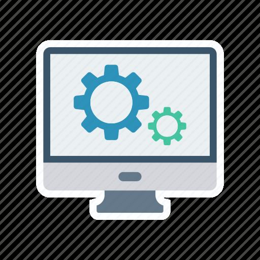 configuration, monitor, screen, setting icon