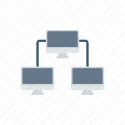 computer, connect, connection, network icon