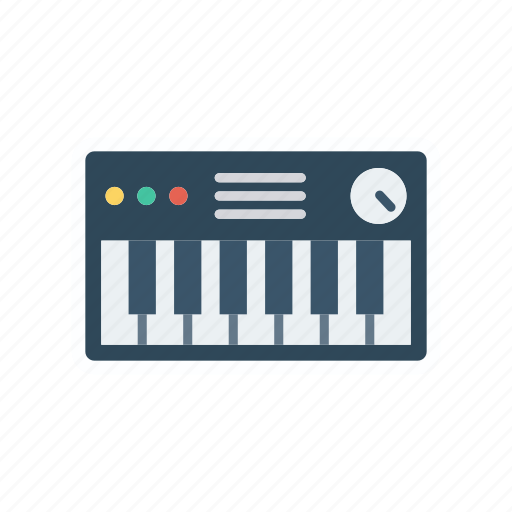 instrument, key, piano, tiles icon