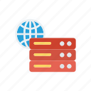 database, datacenter, mainframe, server icon