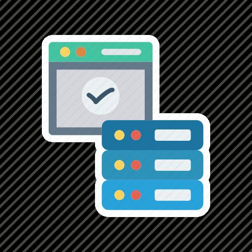 database, datacenter, mainframe, server icon