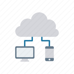 cloud, computing, connection, server icon