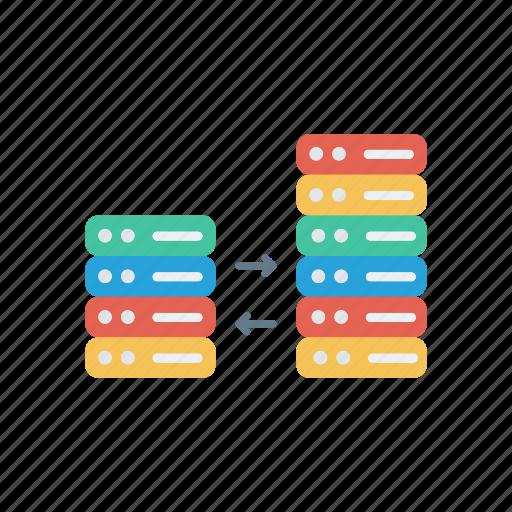 connection, server, storage, transfer icon