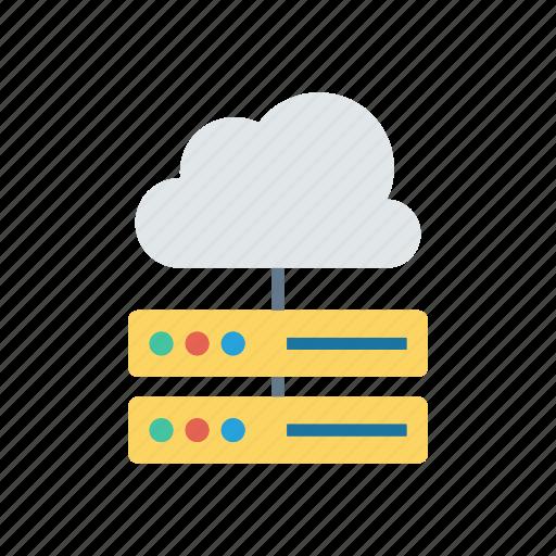 cloud, database, datacenter, server icon