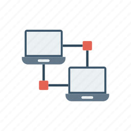 connection, lcd, network, technology icon