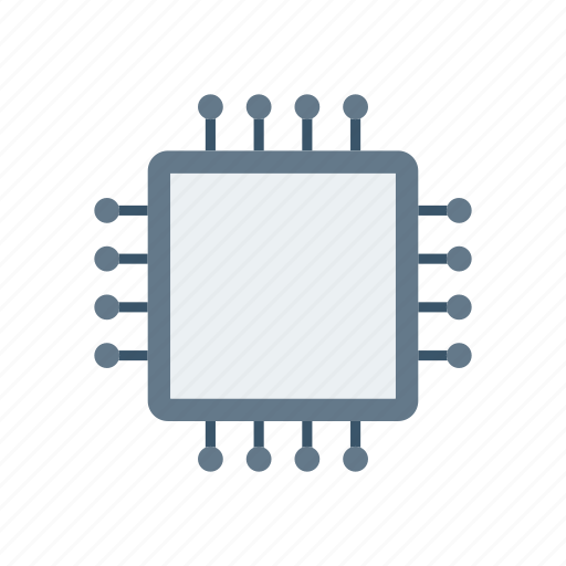 chip, cpu, electronic, micro icon
