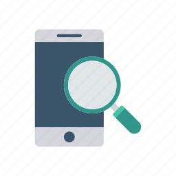 device, mobile, phone, search icon