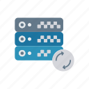 refresh, reload, server, storage icon