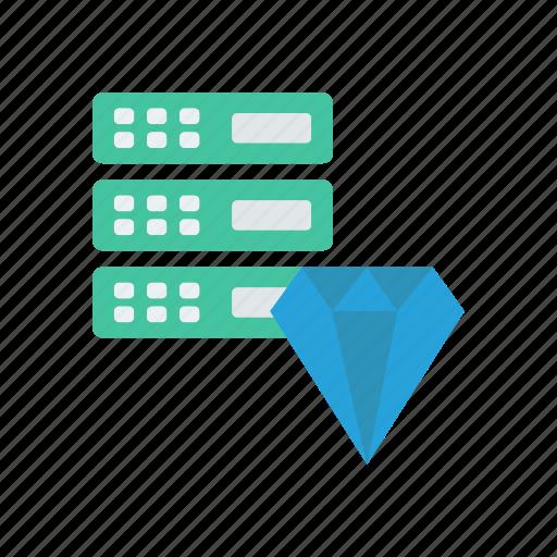 database, mainframe, server, technology icon