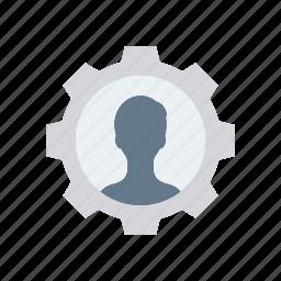 account, profile, setting, user icon