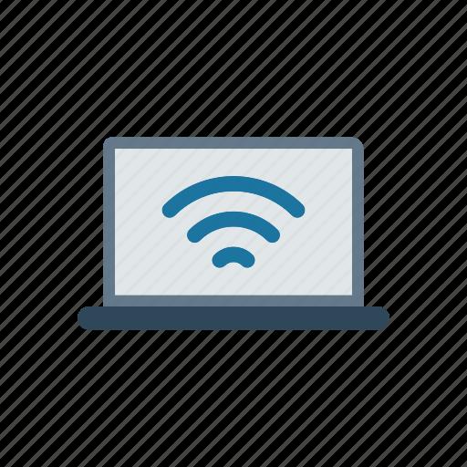 device, gadget, laptop, wireless icon