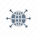 connect, globe, planet, world icon