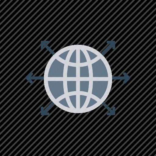 connect, globe, planet, world icon