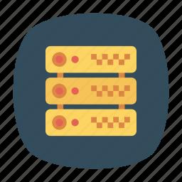 database, datacenter, server, storage icon