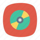 cd, disc, dvd, multimedia icon