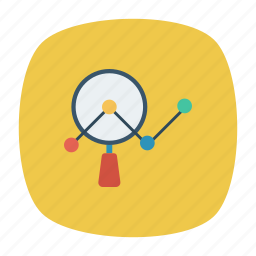 analysis, analytic, graph, search icon