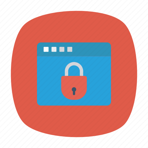 browser, lock, private, security icon