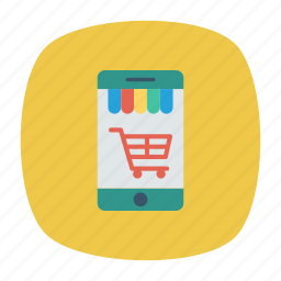 cart, ecommerce, mobile, shopping icon