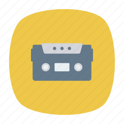 cassette, music, tape, technology icon