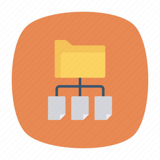archive, connect, folder, share icon