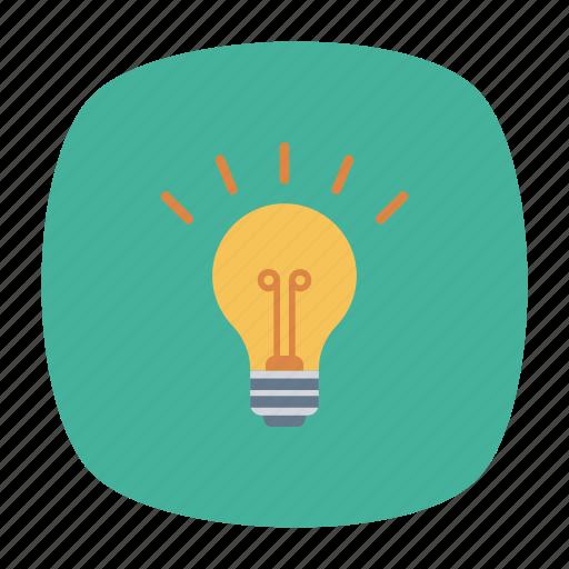bright, creativity, idea, lamp icon