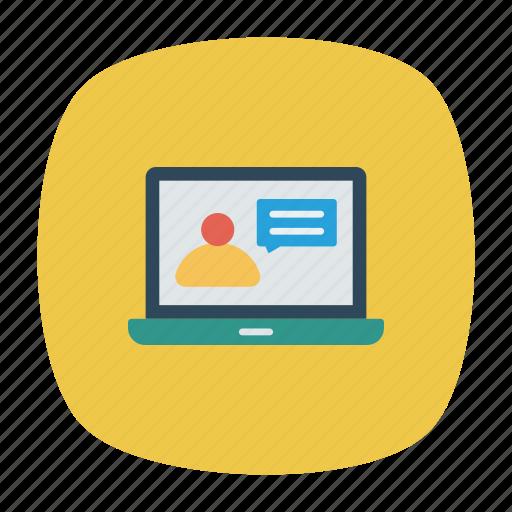 device, gadget, laptop, login icon