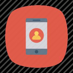 device, login, mobile, phone icon