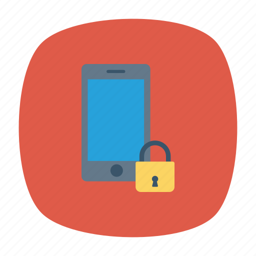 lock, mobile, private, protection icon