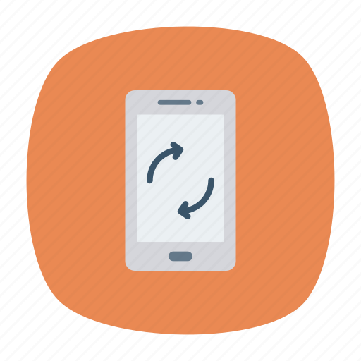 device, mobile, phone, reload icon