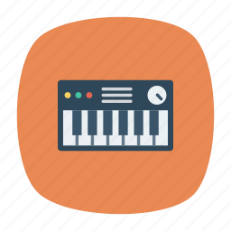 instrument, key, piano, tiles icon