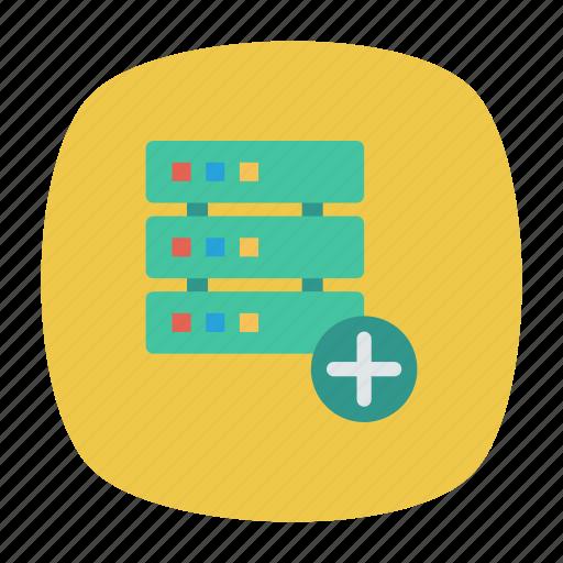 add, database, mainframe, server icon