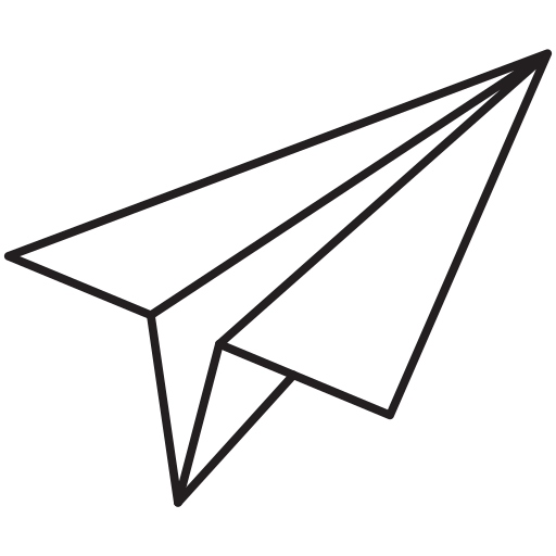 paper plane, plane icon