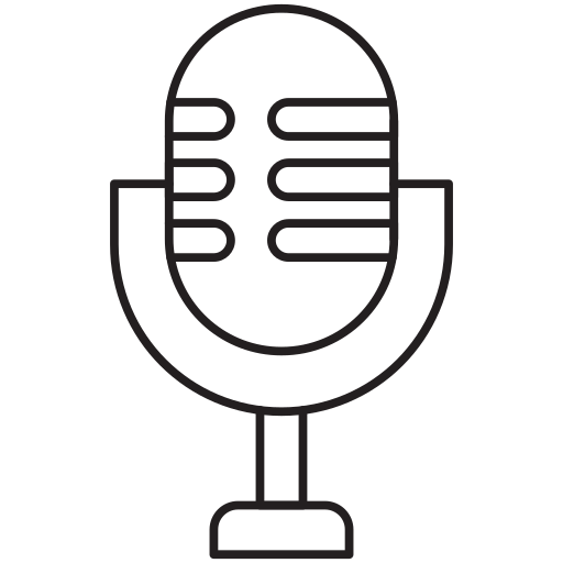 mic, stand mic, voice icon